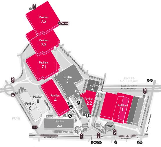 Plan parc des expositions paris path decorations - Parc des expositions porte de versailles plan ...